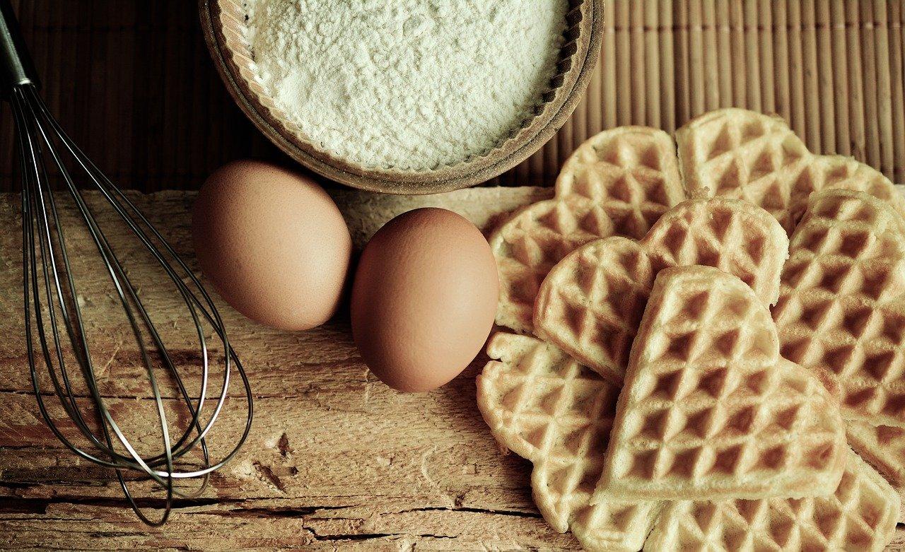 Eier Waffel Rezept mit Kürbis